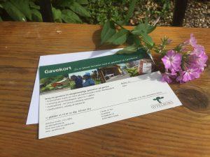 Gavekort kan benyttesi gårdbutikken, en oplevelse på gården, eller ophold på camping
